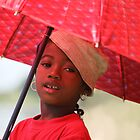 The Red Umbrella by CharlotteMorse