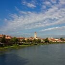 River Adige Panoramic View in Verona by kirilart