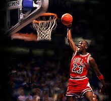 Michael Jordan Dunking by art-hammer