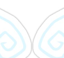 Cutesy wings (blue) Sticker