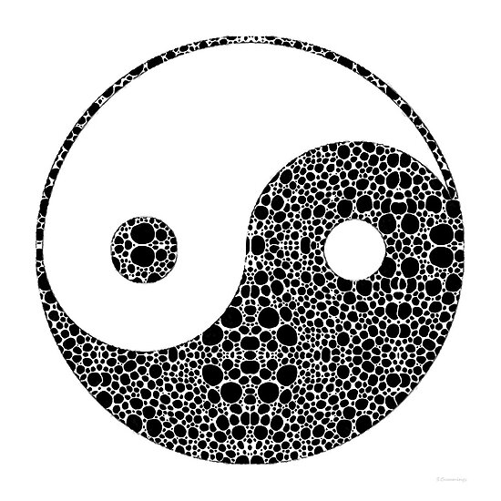 Perfect Balance 1 - Yin and Yang Stone Rock'd Art by Sharon Cummings by Sharon Cummings
