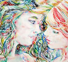 TWO GIRLS / WATERCOLOR PORTRAIT by lautir