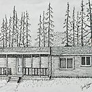 Original Stump Sitter Deer Camp by Jack Brauer