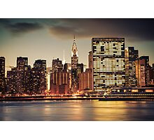 Chrysler Building and New York City Skyline Photographic Print