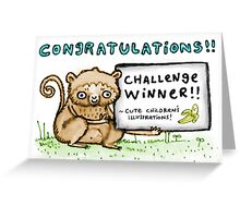 Cute Children's Illustrations! Challenge Winners' Banner Greeting Card