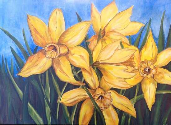 Dancing Daffodils  by viveca