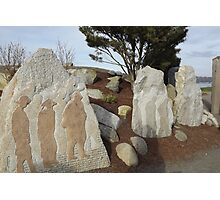 Carved Into Stone - Chinese Reconciliation Park Photographic Print