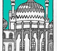 Brighton Pavilion in turquoise by Emma Bennett
