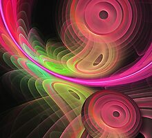 Warping a disc, fractal artwork by walstraasart