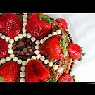 Strawberry Chocolate Cream Cheese Cake by © Sophie Smith