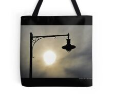 Cedar Town Beach Vintage Lamp Under The Evening Sun - Mt. Sinai, New York  Tote Bag