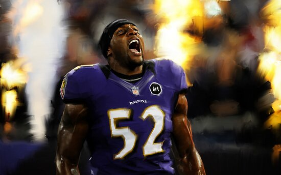 Baltimore Ravens Ray Lewis by art-hammer