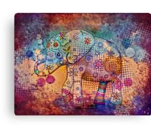 indie elephant Canvas Print
