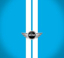 Laser Blue White stripes-ipad by mrmini