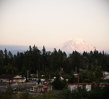Mt Rainier Overlooking Bonney Lake by capturedbykt