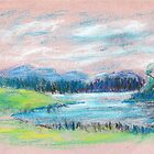 Pastel Landscape sketch by ChrisNeal