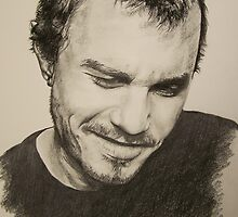 Heath Ledger by Leanne Grundy