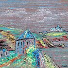Countryside landscape pastel sketch by ChrisNeal