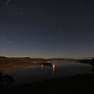 Lake Tantangara under moonlight by Tim Coleman