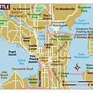 Map of Seattle Washington by travelwyse