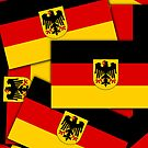 Iphone Case -  State Flag of Germany - Multiple by Mark Podger