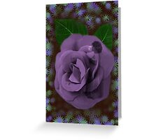 ☀ ツ A LITTLE ROSE BUD INSIDE A ROSE BLOWING BUBBLES☀ ツ Greeting Card
