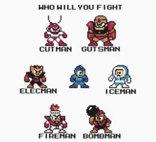 Megaman Who will you fight (black text) by Funkymunkey