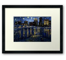 Future Starry Night on the Rhone  Framed Print