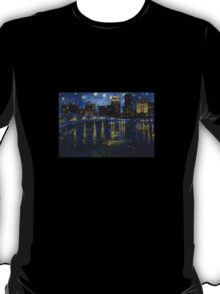 Future Starry Night on the Rhone  T-Shirt