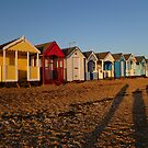 Beach Huts At Sunset by Vicki Spindler (VHS Photography)