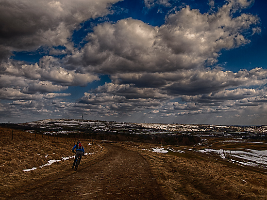 Cyclist on the Moor by Glen Allen