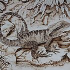 Pyrography: Water Dragon by aussiebushstick