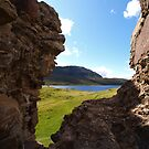 View through Ardvreck Castle  by kalaryder