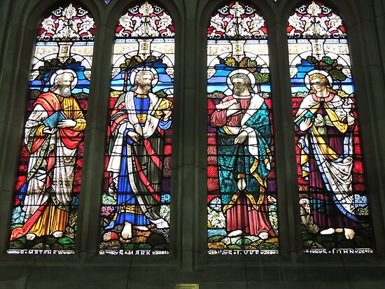 Stain Glass Beauty - Saints Matthew, Mark, Luke & John by ScenerybyDesign