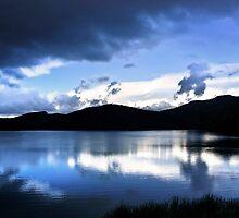 Cloud-break at Lake Tutira by SeeOneSoul