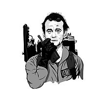 Ghostbusters Peter Venkman Bill Murray illustration Photographic Print