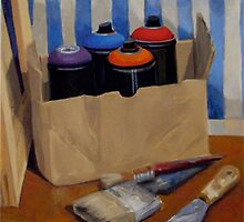 Spray Cans by Jane Saunders