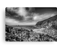 Cot Valley Porth Nanven 3 Black and White Canvas Print