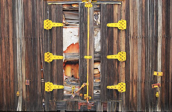 Boxcar Doors by Ron Hannah