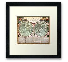 1707 Homann and Doppelmayr Map of the Moon Geographicus TabulaSelenographicaMoon doppelmayr 1707 Framed Print