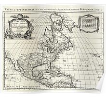 1708 De L'Isle Map of North America Covens and Mortier ed Geographicus AmeriqueSeptentrionale covensmortier 1708 Poster