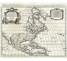 1708 De L'Isle Map of North America Covens and Mortier ed Geographicus AmeriqueSeptentrionale covensmortier 1708 Photographic Print