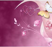Hearts & Butterfly  by SandraWidner