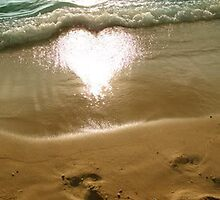 Sun's Reflection is a Heart by SandraWidner