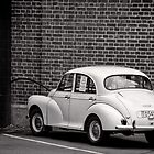 Parked Morris Minor - Christchurch - New Zealand by Norman Repacholi