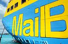 "National Bahamian Colours for the Cargo Boat ""Fiesta Mail"" in Nassau, The Bahamas by 242Digital"