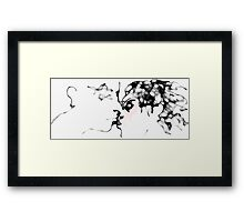 The Kiss II -(070413)- Digital art/touchpad/Program: Harmony Framed Print