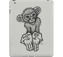 Evolution Is Real, God Is Not iPad Case/Skin