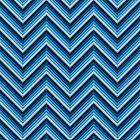 Chevron (Blues again) iPhone Case by papertopixels