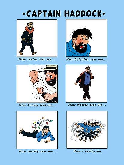 Captain Haddock Meme (print) by rafstardesigns